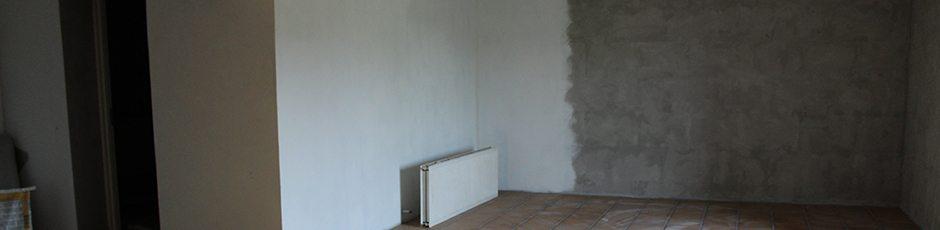 Maler Sorø Ringsted, hvid maling på væggen